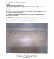 C Max Grill Cover Installation Instructions 11 13 Page 2 Of 4